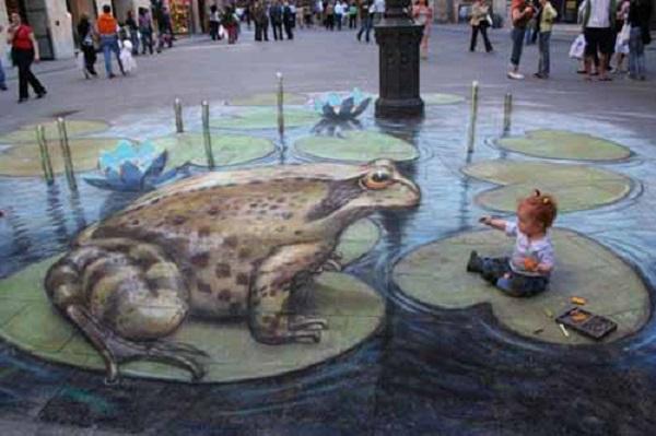 Chú ếch nằm giữa đường phố Luân Đôn