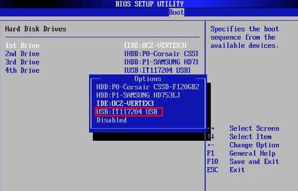 Để làm cho USB có thể khởi động hiển thị trong BIOS, hãy thử chỉ định thứ tự khởi động.