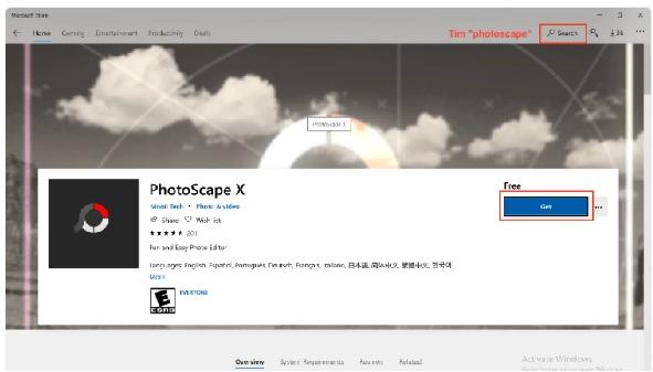 Cài đặt PhotoScape