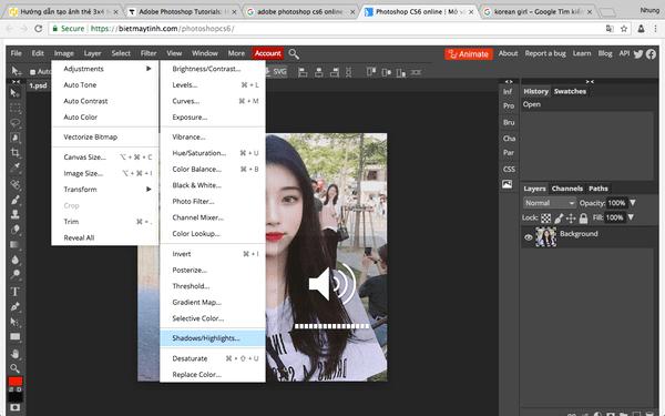 Để cân bằng độ phơi sáng của vùng tối (bóng tối) và vùng sáng bạn có thể sử dụng tính năng Shadow / Highlight của Adobe Photoshop.