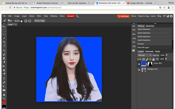 Hướng dẫn làm ảnh thẻ bằng photoshop cs6 cực kỳ đơn giản ngay tại nhà