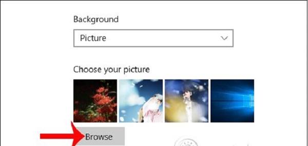 Chọn hình ảnh có sẵn