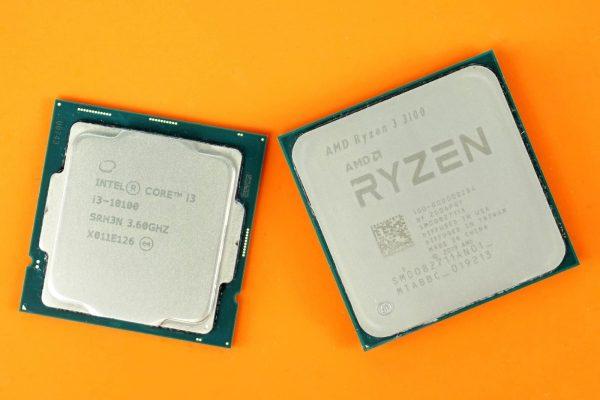 i3-10100 và Ryzen 3 3100 đều sản xuất với 4 nhân 8 luồng